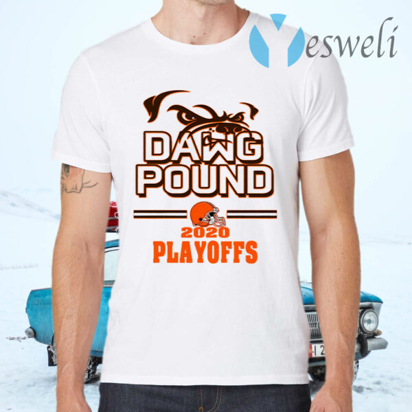 Dawg Pound 2020 Playoffs Cleveland Browns T-Shirts