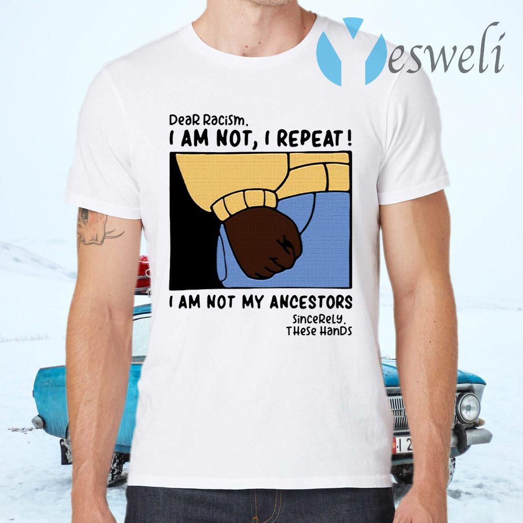Dear Racism I Am Not I Repeat I Am Not My Ancestors T-Shirts