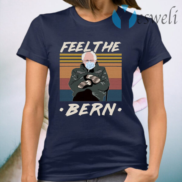 Feel The Bern Bernie Sanders Mittens Vintage T-Shirt