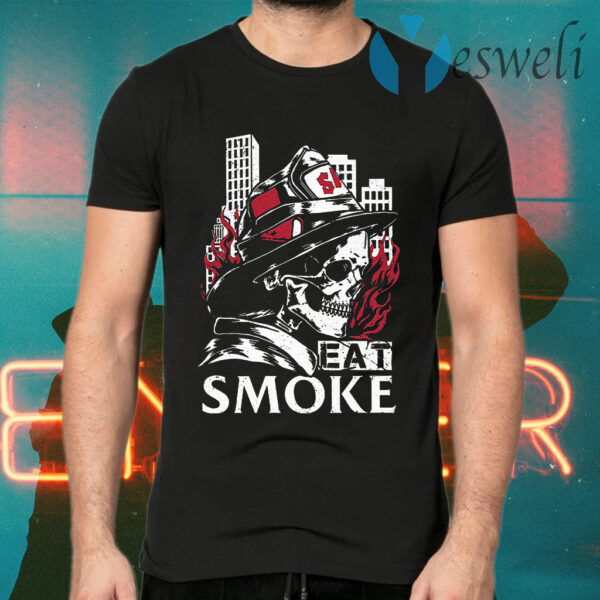 Firefighter Skull Eat Smoke T-Shirt