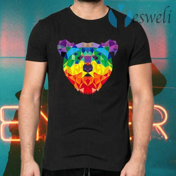 Geometric Bear Lgbt Rainbow T-Shirts