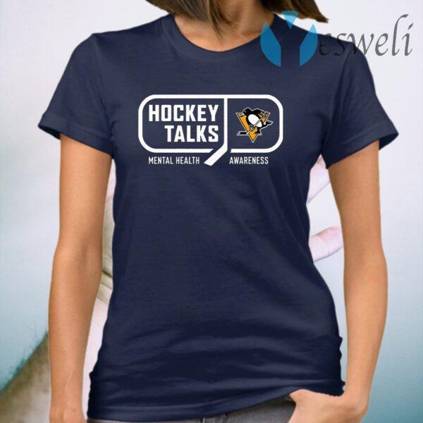 Hockey Talks Mental Health Awareness Pittsburgh T-Shirt