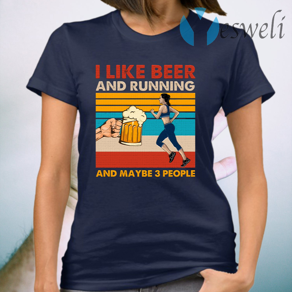 I Like Beer And Running T-Shirt