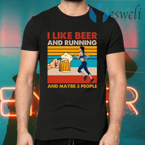 I Like Beer And Running T-Shirts