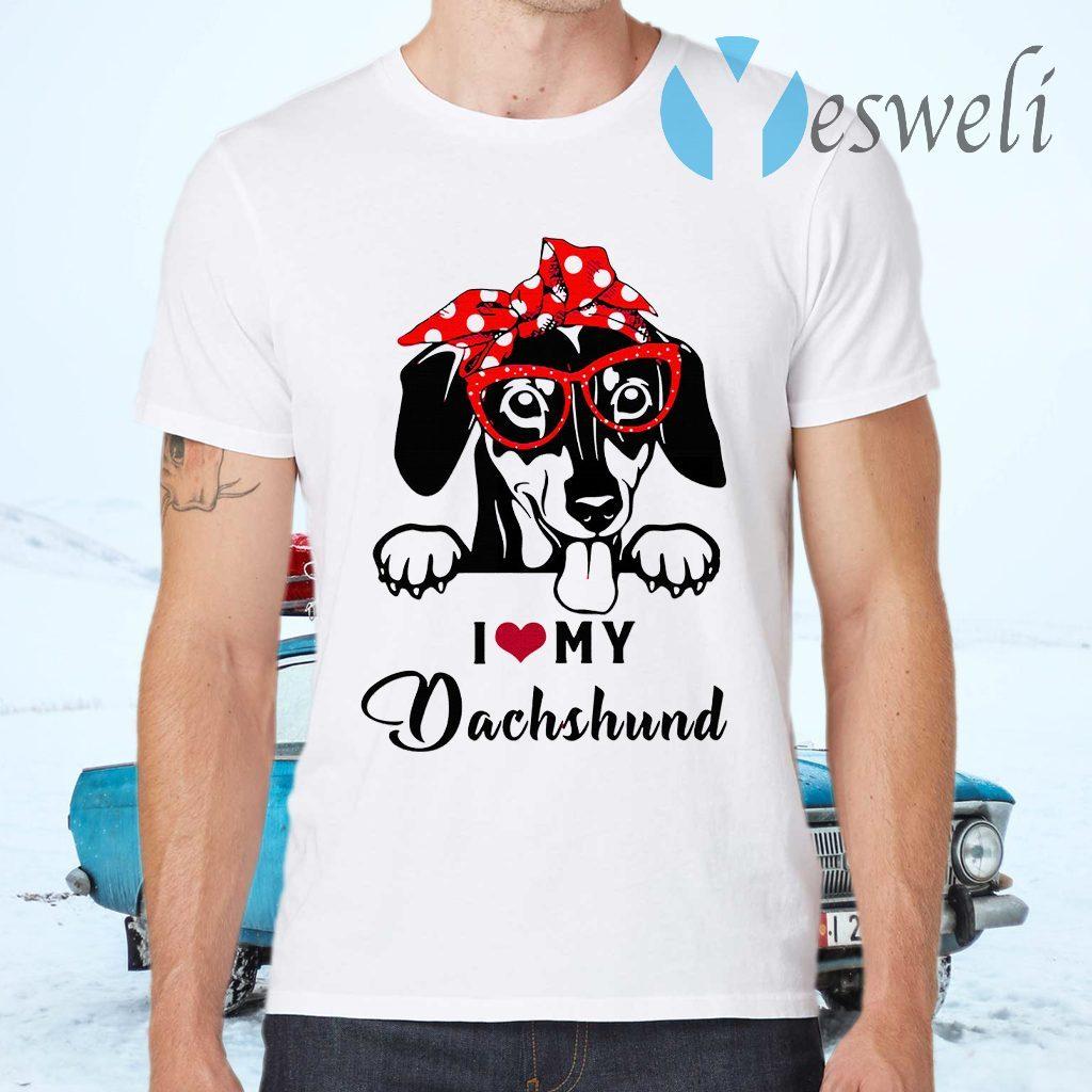 I Love Dog Dachshund T-Shirts