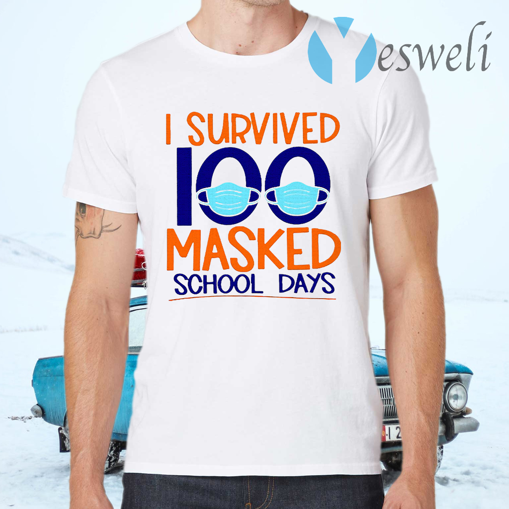 I Survived 100 Masked School Days Student Life T-Shirts