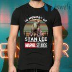 In Memory Of Stan Lee November 12 2018 Marvel Studios Signature Vintage Retro T-Shirts