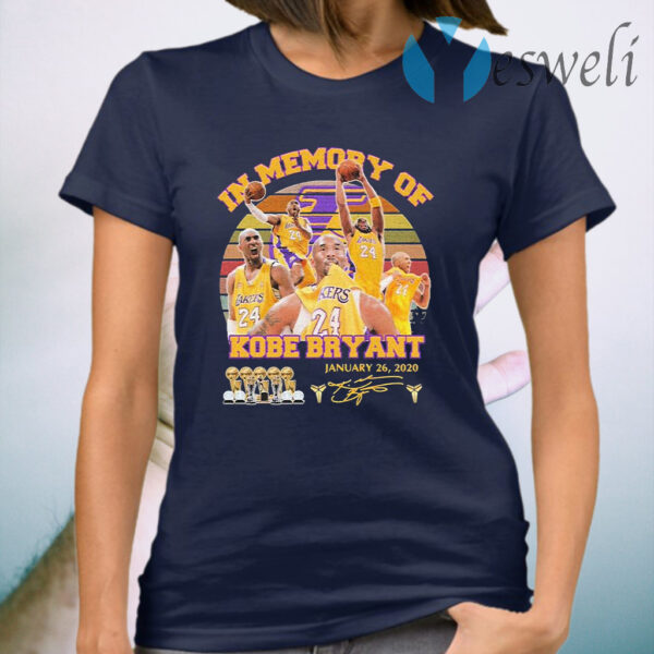 In Memory of Kobe Bryant January 26 2020 signature vintage T-Shirt