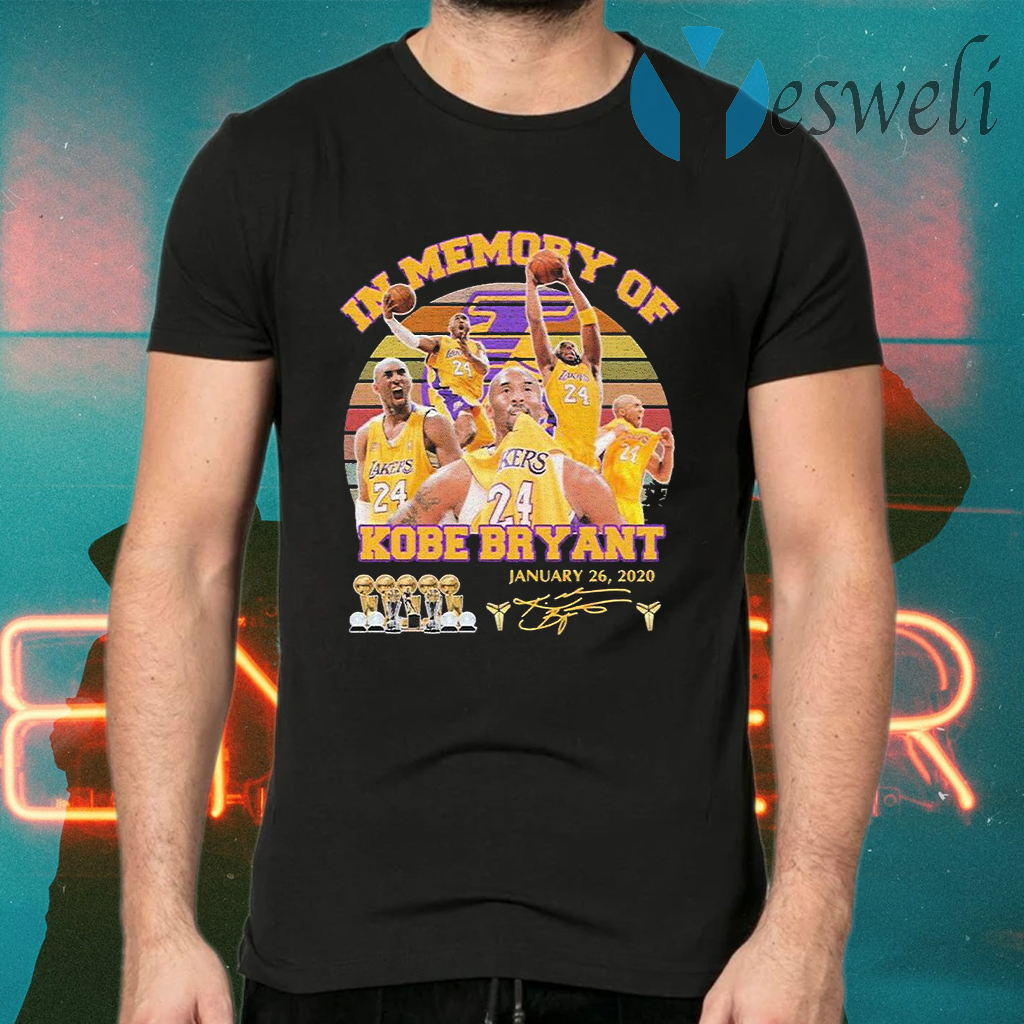 In Memory of Kobe Bryant January 26 2020 signature vintage T-Shirts