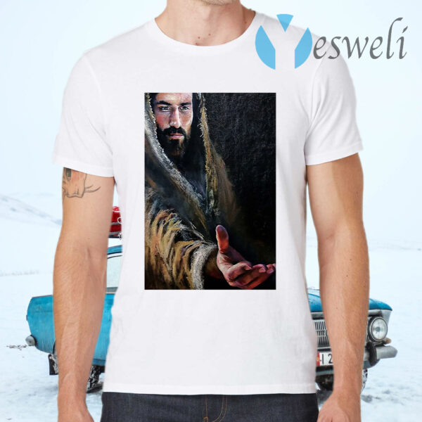 Jesus Reaching Hand T-Shirts