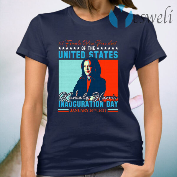 Kamala Harris First Female Vice President Biden Harris 2021 Inauguration Day T-Shirt