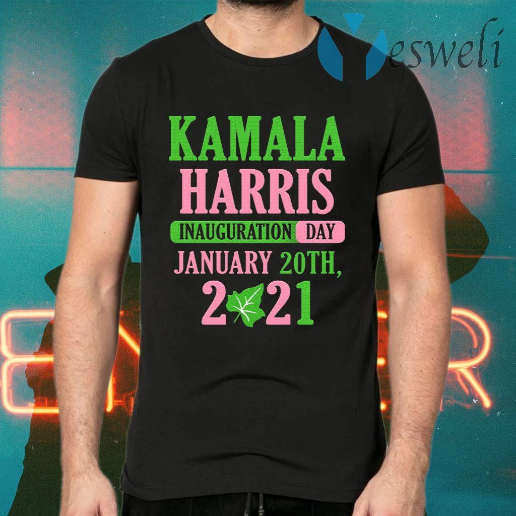 Kamala Harris Inauguration Day 2021 Green And Pink T-Shirts