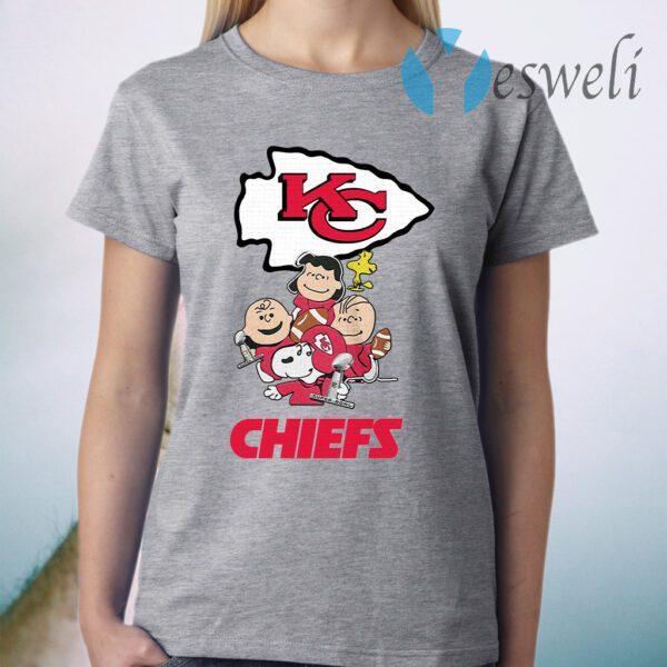 Kansas City Chiefs The Peanuts Character T-Shirt