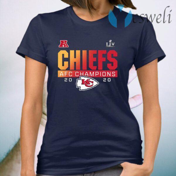 LIV Super Bowl Kansas City Chiefs AFC Champions 2020 T-Shirt