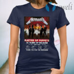 Metallica Master Of Puppets 35 Years Of Release Thank You For The Memories T-Shirt