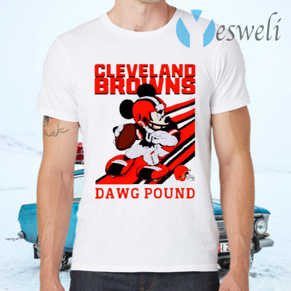 Mickey Mouse Cleveland Browns Dawg Pound T-Shirts