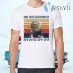 Mike Echo Oscar whisky how do you copy over Pilot Cat T-Shirts