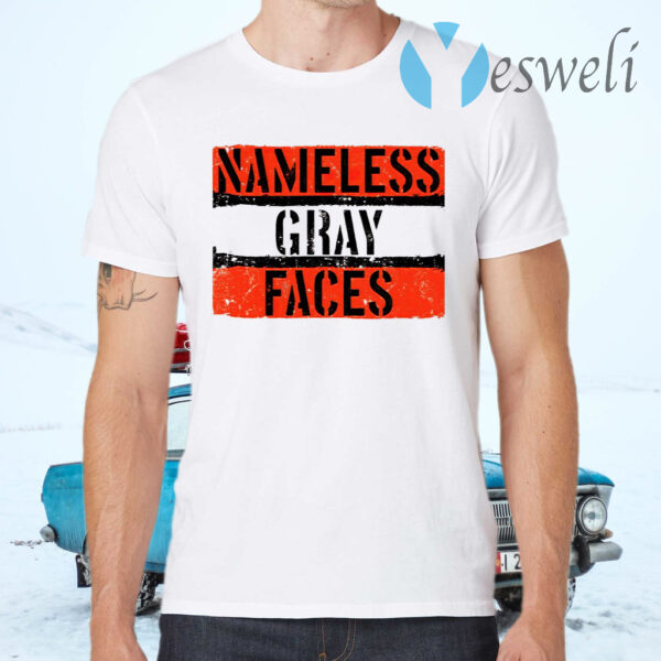 Nameless Gray Faces T-Shirts