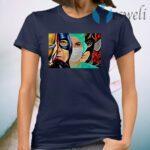Nurse Superheroes Iron Man Captain America T-Shirt