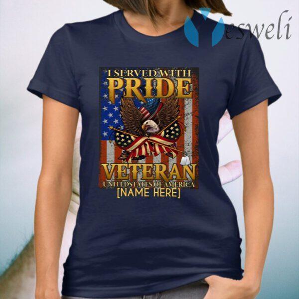 Personalized Veteran American Flag Eagle T-Shirt