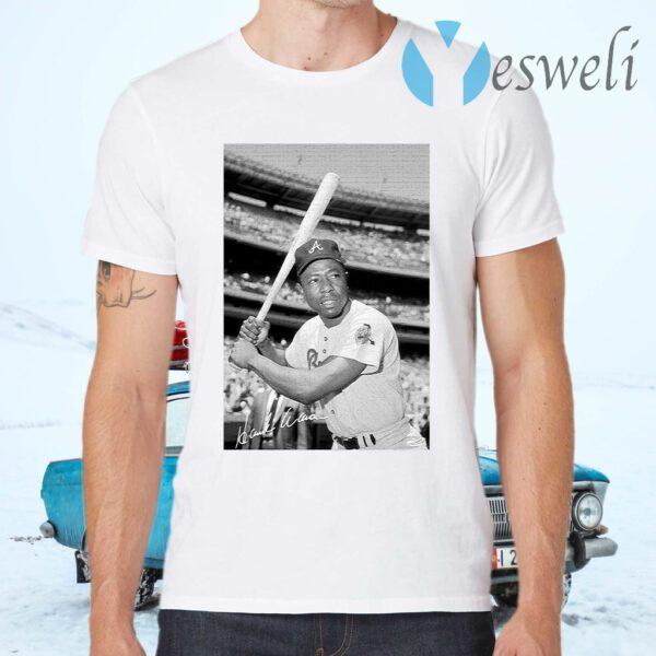 Rip Hank Aaron 1934 2021 signature T-Shirt