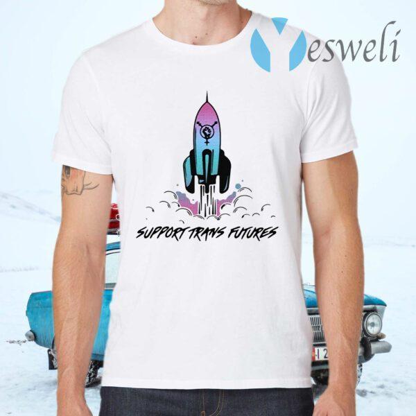Rocket Ship Support Trans Futures T-Shirt