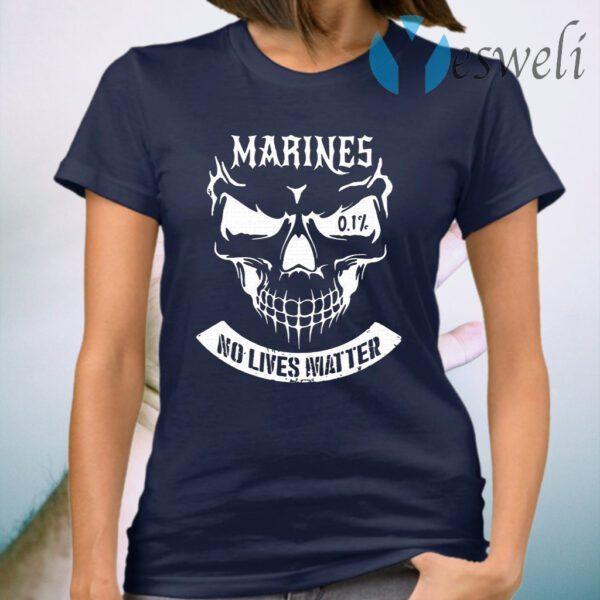 Skull Marines No Lives Matter Graphic T-Shirt