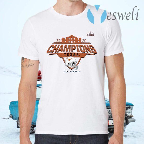 Texas Longhorns 2020 Alamo Bowl Champions T-Shirts