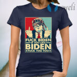 Trump Middle Finger Biden And If You Like Biden Fu-ck You Too T-Shirt