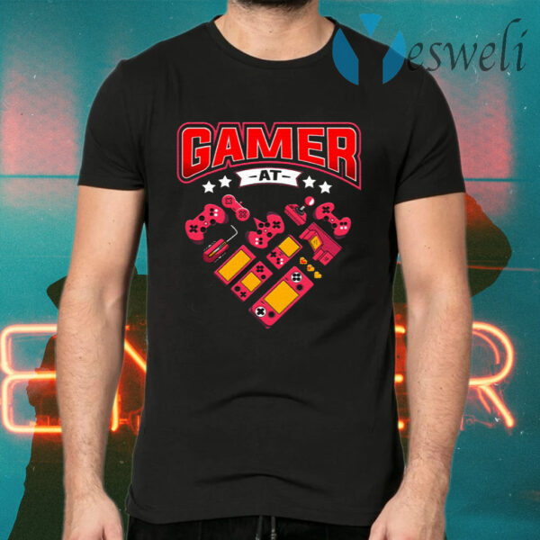 Video Gamer At Heart T-Shirts
