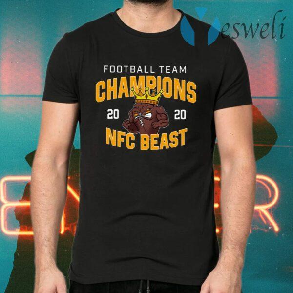 Washington Football Team NFC Beast Champs 2020 T-Shirts
