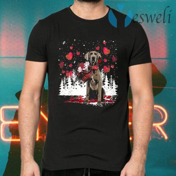 Weimaraner Snowflake Valentine Rose T-Shirts