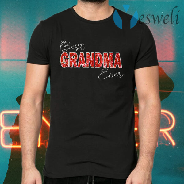 Womens Best Grandma Ever Boy Girl Matching Family T-Shirts