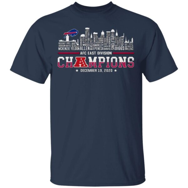 Awesome Buffalo Bills AFC East Division Champions 2020 Name Players T-Shirt
