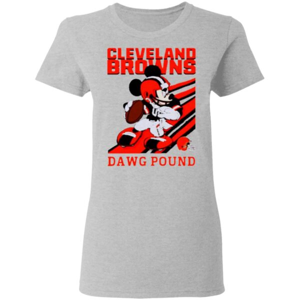 Mickey Mouse Cleveland Browns Dawg Pound T-Shirt