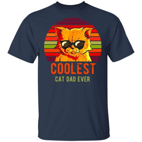 Coolest Cat Dad Ever Vintage T-Shirt