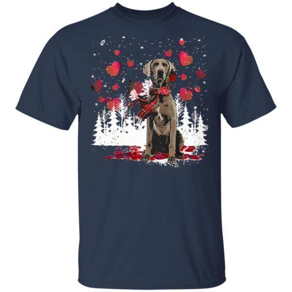 Weimaraner Snowflake Valentine Rose T-Shirt