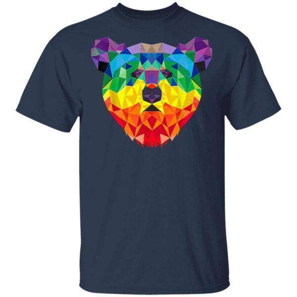 Geometric Bear Lgbt Rainbow T-Shirt