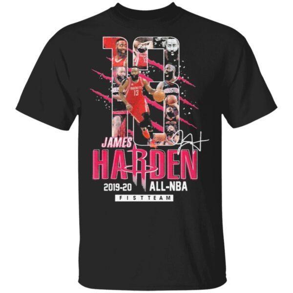 13 James Harden Rockets 2019 2020 all NBA fistteam signature T-Shirt