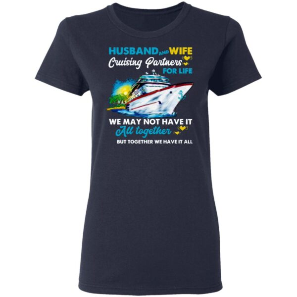 Husband And Wife Cruising Partners For Life Ship T-Shirt