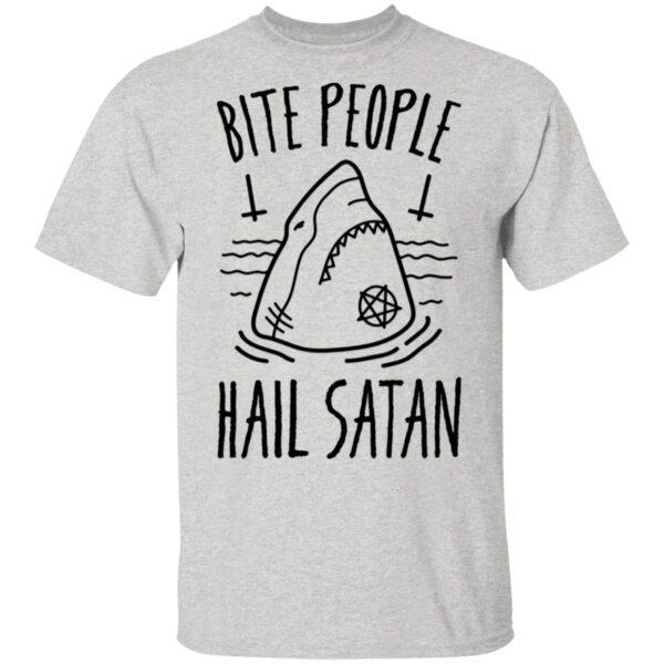 Bite People Hail Satan Shark T-Shirt