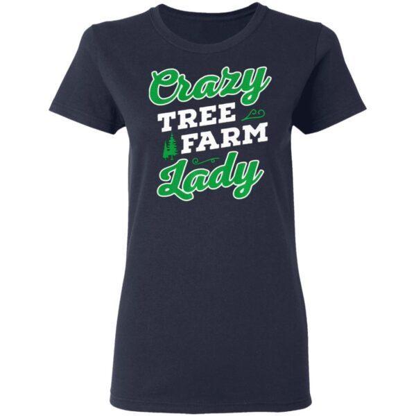 Crazy Tree Farm Lady Christmas Tree Merry Xmas T-Shirt