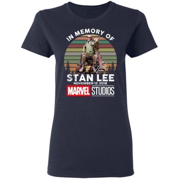 In Memory Of Stan Lee November 12 2018 Marvel Studios Signature Vintage Retro T-Shirt
