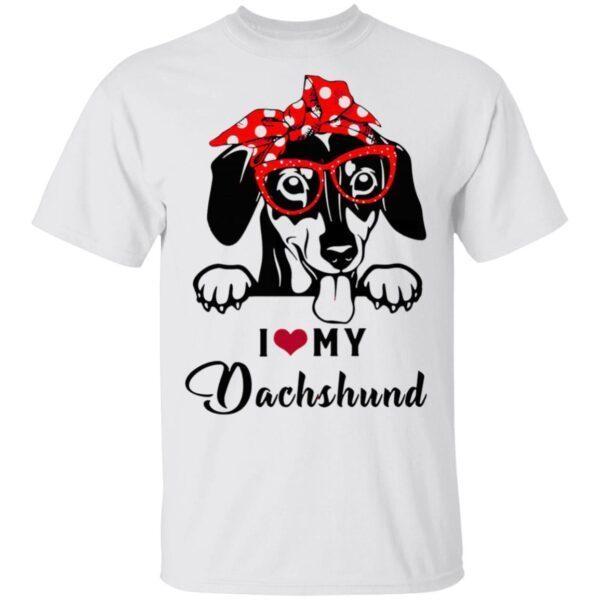 I Love Dog Dachshund T-Shirt