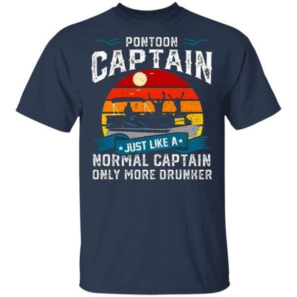 Pontoon Captain Boat Lake Boating Beer Gift For Dad T-Shirt