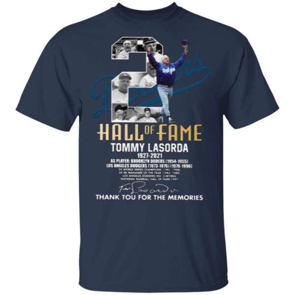 Tommy Lasorda 1927-2021 Thank You For The Memories T-Shirt