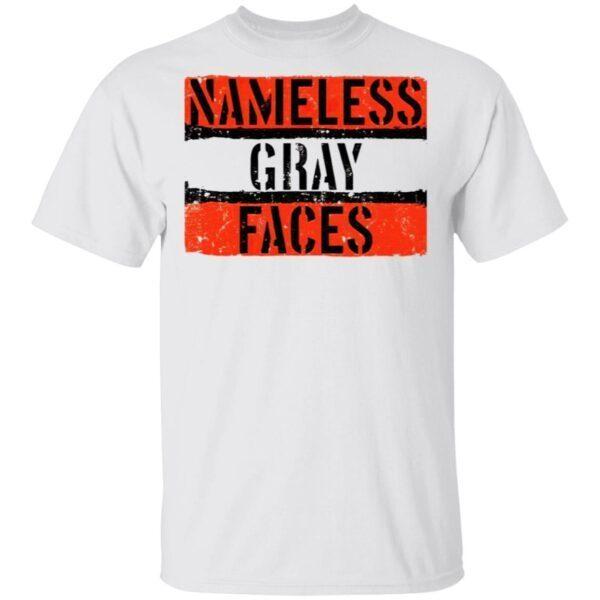 Nameless Gray Faces T-Shirt