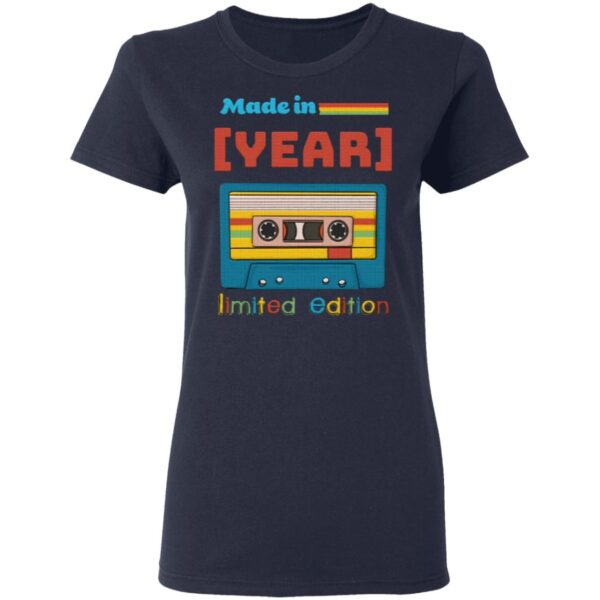Personalized Made In Limited Edition Birthday Cassette Tape T-Shirt