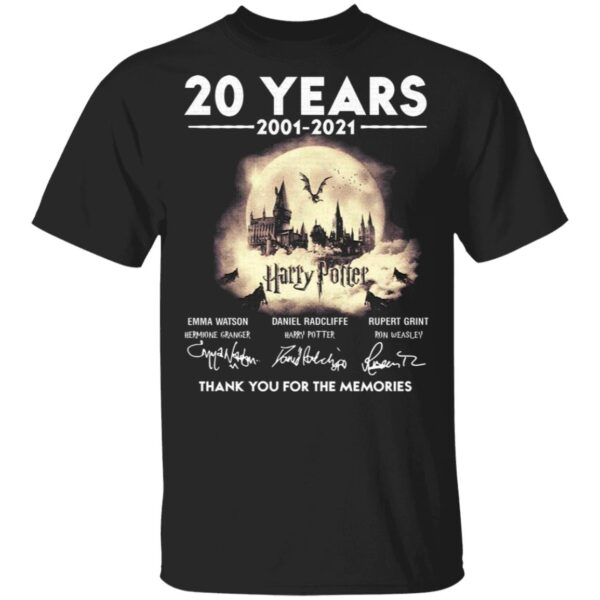 20 years 2002-2021 Harry Potter signatures T-Shirt