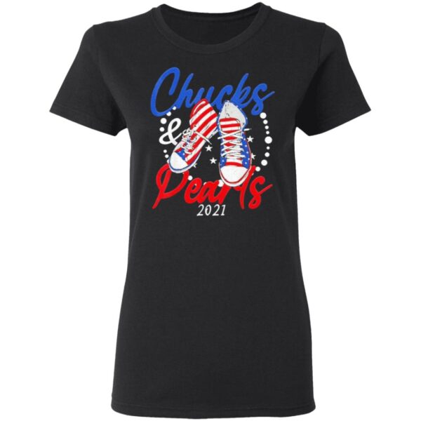 Chucks and Pearls 2021 Flag US T-Shirt